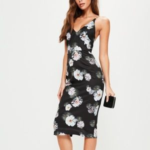 NEW | Misguided Floral Strappy Midi Dress